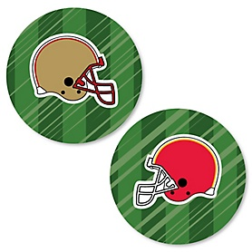 Super Football Bowl - Sports Game Day Party Circle Sticker Labels - 24 Count