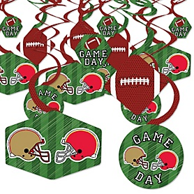 Super Football Bowl - Sports Game Day Party Hanging Decor - Party Decoration Swirls - Set of 40