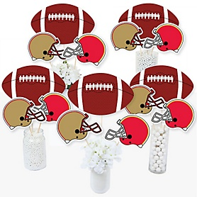 Super Football Bowl - Sports Game Day Party Centerpiece Sticks - Table Toppers - Set of 15