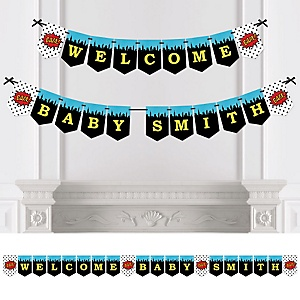 BAM! Superhero - Personalized Party Bunting Banner & Decorations