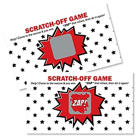 BAM! Superhero - Party Game Scratch Off Cards - 22 ct