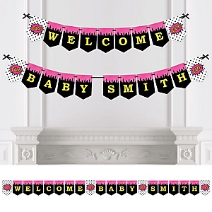 BAM! Girl Superhero - Personalized Party Bunting Banner & Decorations