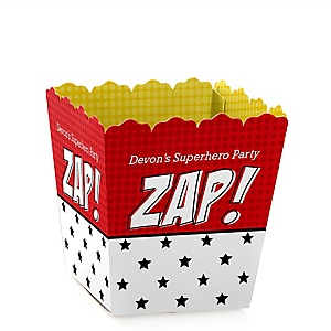 BAM! Superhero - Personalized Baby Shower Candy Boxes