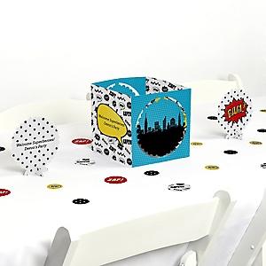 BAM! Superhero - Party Centerpiece & Table Decoration Kit