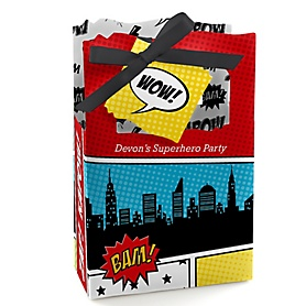 BAM! Superhero - Personalized Party Favor Boxes - Set of 12