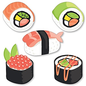 Let's Roll - Sushi - DIY Shaped Japanese Party Cut-Outs - 24 ct