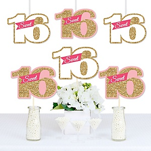 Sweet 16 - Decorations DIY 16th Birthday Party Essentials - Set of 20