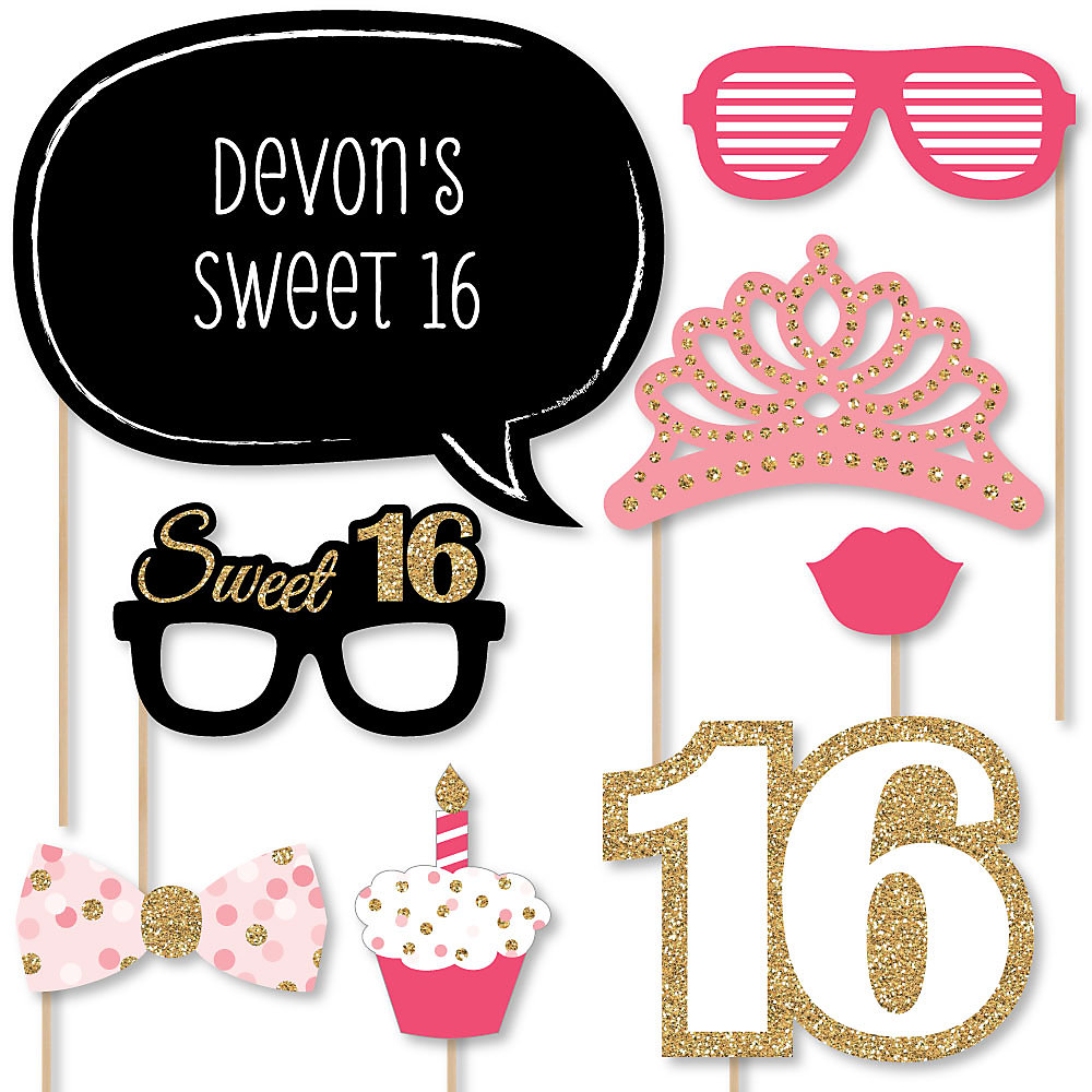 Sweet Sixteen Party Glasses