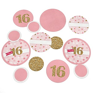 Sweet 16 - Birthday Party Table Confetti - 27 ct