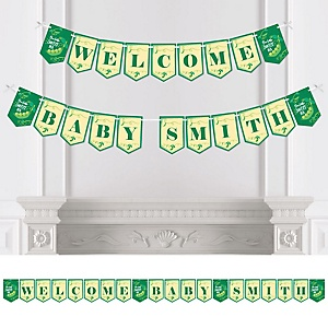 Sweet Pea in a Pod - Personalized Baby Shower or First Birthday Party Bunting Banner & Decorations