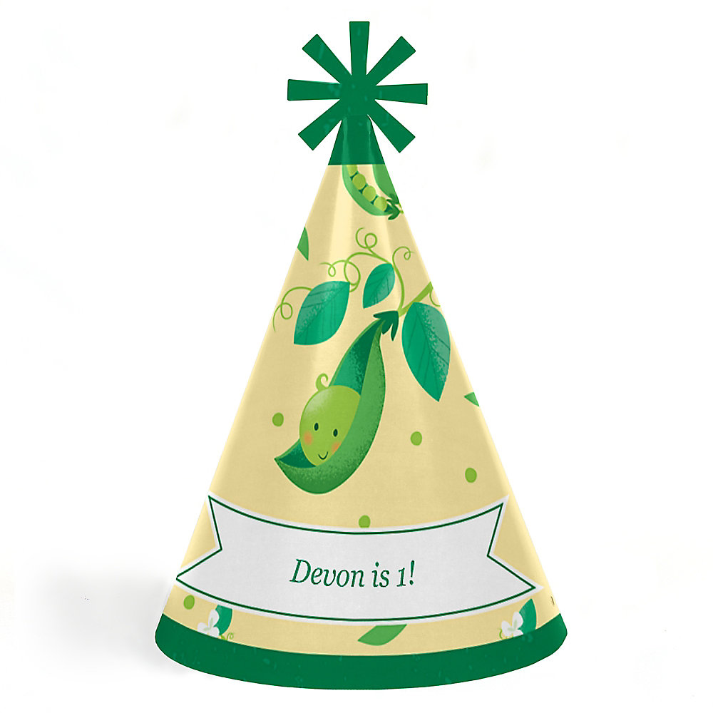 Personalized Cone First Birthday Party Hats For Kids And Adults Double Tap To Zoom