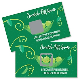 Sweet Pea in a Pod - Baby Shower or First Birthday Party Scratch Off Cards - 22 Cards