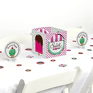 Sweet Shoppe - Candy and Bakery Birthday Party or Baby Shower Centerpiece and Table Decoration Kit