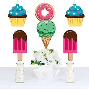 Sweet Shoppe - Donut, Ice Cream and Cupcake Decorations DIY Candy and Bakery Birthday Party or Baby Shower Essentials - Set of 20