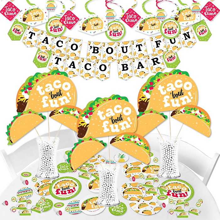 Taco 'Bout Fun - Mexican Fiesta Supplies - Banner Decoration Kit - Fundle Bundle