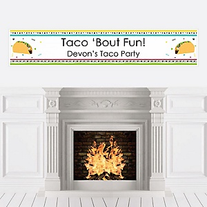 Taco 'Bout Fun - Personalized Mexican Fiesta Banner