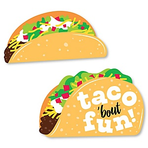 Taco 'Bout Fun - DIY Shaped Mexican Fiesta Cut-Outs - 24 ct