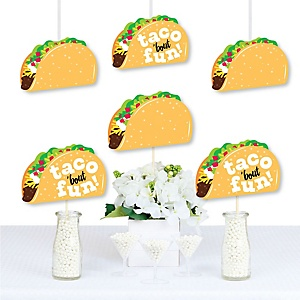 Taco 'Bout Fun - Decorations DIY Mexican Fiesta Essentials - Set of 20