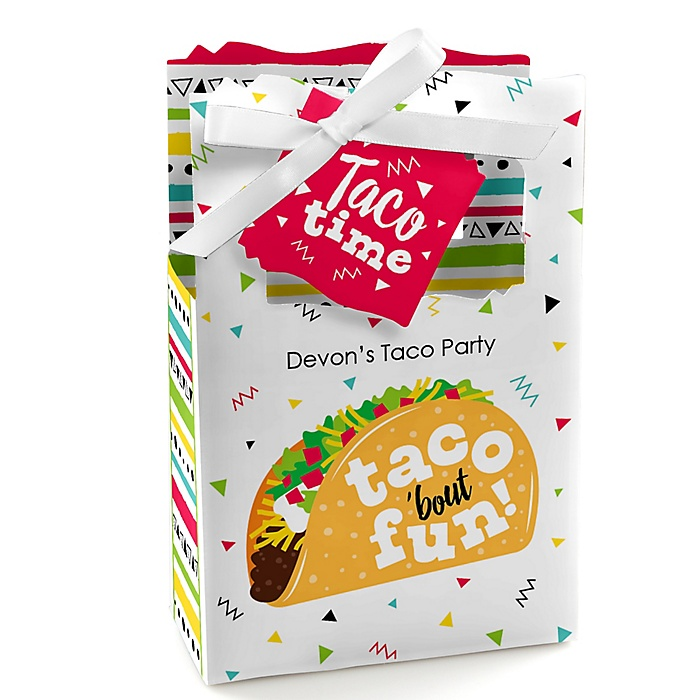 Taco 'Bout Fun - Personalized Mexican Fiesta Favor Boxes - Set of 12