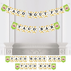 Taco 'Bout Fun - Mexican Fiesta Bunting Banner - Party Decorations - Toco 'Bout Fun Taco Bar