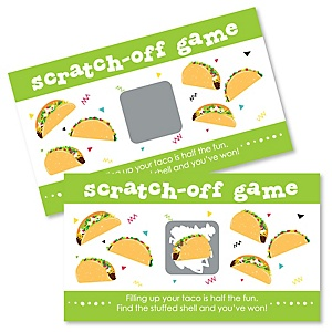 Taco 'Bout Fun - Mexican Fiesta Game Scratch Off Cards - 22 ct