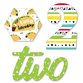 Taco Twosday - Diy Shaped Mexican Fiesta Second Birthday Party Cut-Outs - 24 Count