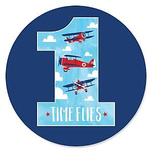 1st Birthday Taking Flight - Airplane - Vintage Plane First Birthday Party Theme