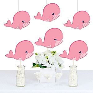 Tale Of A Girl Whale - Decorations DIY Baby Shower or Birthday Party Essentials - Set of 20