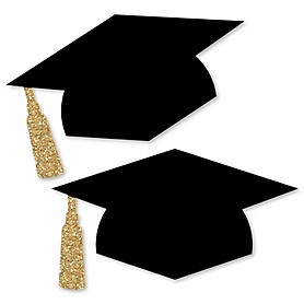 Tassel Worth The Hassle - Gold - Graduation Hat Decorations DIY Large Graduation Party Essentials - 20 Count