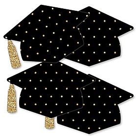 Tassel Worth The Hassle - Gold - Grad Cap Decorations DIY Graduation Party Essentials - Set of 20