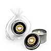 Tassel Worth The Hassle - Gold - Personalized Graduation Candle Tin Favors - Set of 12