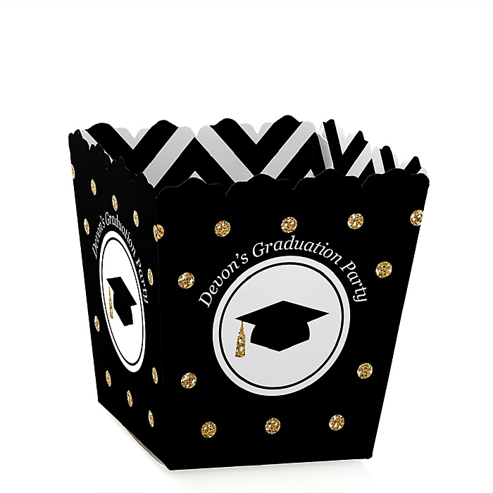 Tassel Worth The Hassle - Gold - Party Mini Favor Boxes - Personalized Graduation Treat Candy Boxes - Set of 12