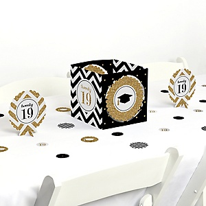 Tassel Worth The Hassle - Gold - 2019 Graduation Party Centerpiece & Table Decoration Kit