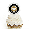 Tassel Worth The Hassle - Gold - Personalized Graduation Cupcake Pick and Sticker Kit - 12 ct