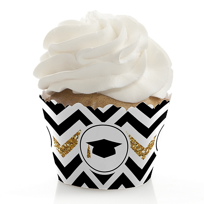 Tassel Worth The Hassle - Gold - Graduation Decorations - Party Cupcake Wrappers - Set of 12