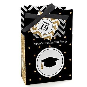 Tassel Worth The Hassle - Gold - Personalized 2019 Graduation Favor Boxes - Set of 12