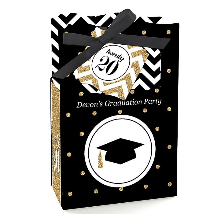 Tassel Worth The Hassle - Gold - Personalized 2020 Graduation Favor Boxes - Set of 12