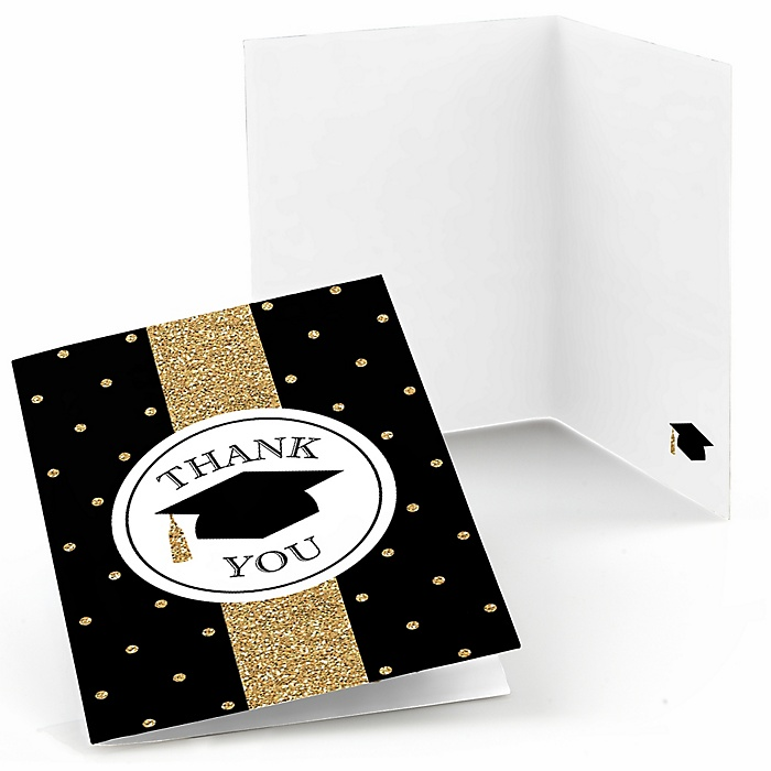 Tassel Worth The Hassle - Gold - Graduation Party Thank You Cards - 8 ct