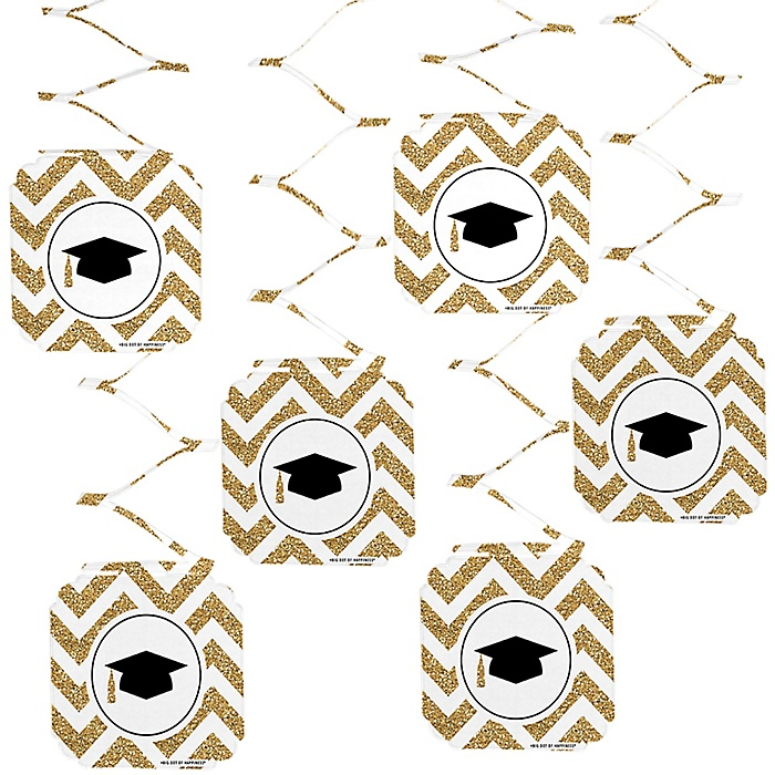 Tassel Worth The Hassle - Gold - Graduation Party Hanging Decorations - 6 ct