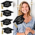 Hilarious Graduation Caps - Gold - Graduation Photo Booth Prop Kit - 20 Count