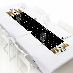 Tassel Worth The Hassle - Gold - Personalized Graduation Party Petite Table Runner