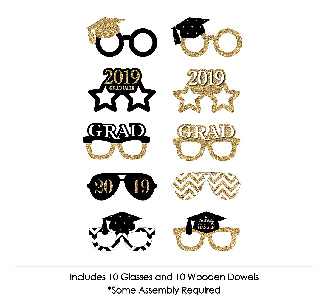 64bbbf5909a0 Tassel Worth The Hassle - Gold Glasses - 2019 Paper Card Stock ...