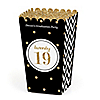 Tassel Worth The Hassle - Gold - Personalized 2019 Graduation Popcorn Favor Treat Boxes - Set of 12