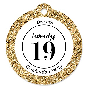 Tassel Worth The Hassle - Gold - 2019 Graduation Party Tags - 20 ct