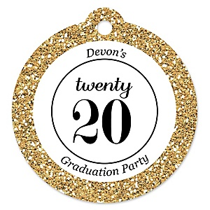 Tassel Worth The Hassle - Gold - 2020 Graduation Party Tags - 20 ct