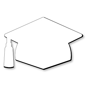 Grad Cap Foam Board - Shaped DIY Craft Supplies for Resin and Painting - Graduation Party Blank Foam Board - 1 Piece