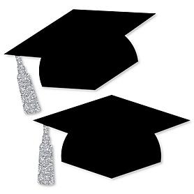 Tassel Worth The Hassle - Silver - Graduation Hat Decorations DIY Large Graduation Party Essentials - 20 Count