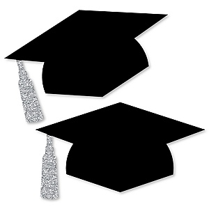 Tassel Worth The Hassle - Silver - Graduation Hat Decorations DIY Large Graduation Party Essentials - 20 Count