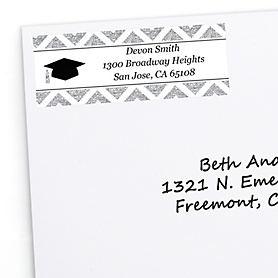 Tassel Worth The Hassle - Silver - Personalized Graduation Return Address Labels - 30 ct