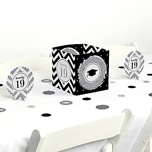 Tassel Worth The Hassle - Silver - 2019 Graduation Party Centerpiece & Table Decoration Kit